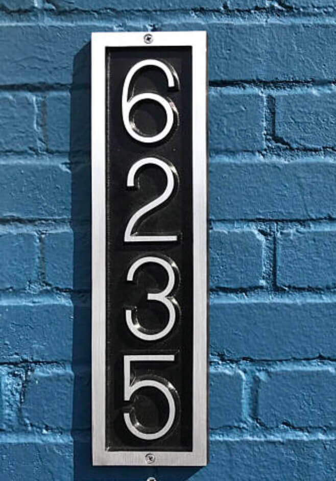 3bdfb8acf69dc Traditional Aluminum | Custom Address Plaques | KCastings, Inc.