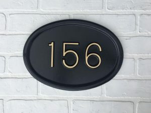 Albert Brass, 1 Line Address Plaque