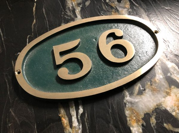 Bold Small Oval, 1 Line Address Plaque