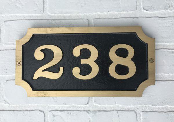 Brass William, 1 Line Address Plaque