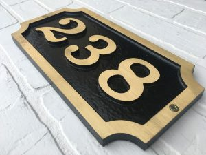 Brass William, 1 Line Address Plaque