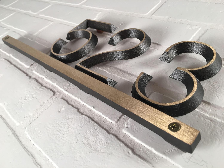 Brass Modern Bar, 1 Line Address Plaque