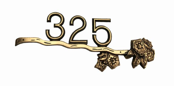 Brass Mountain Laurel, 1 Line Address Plaque