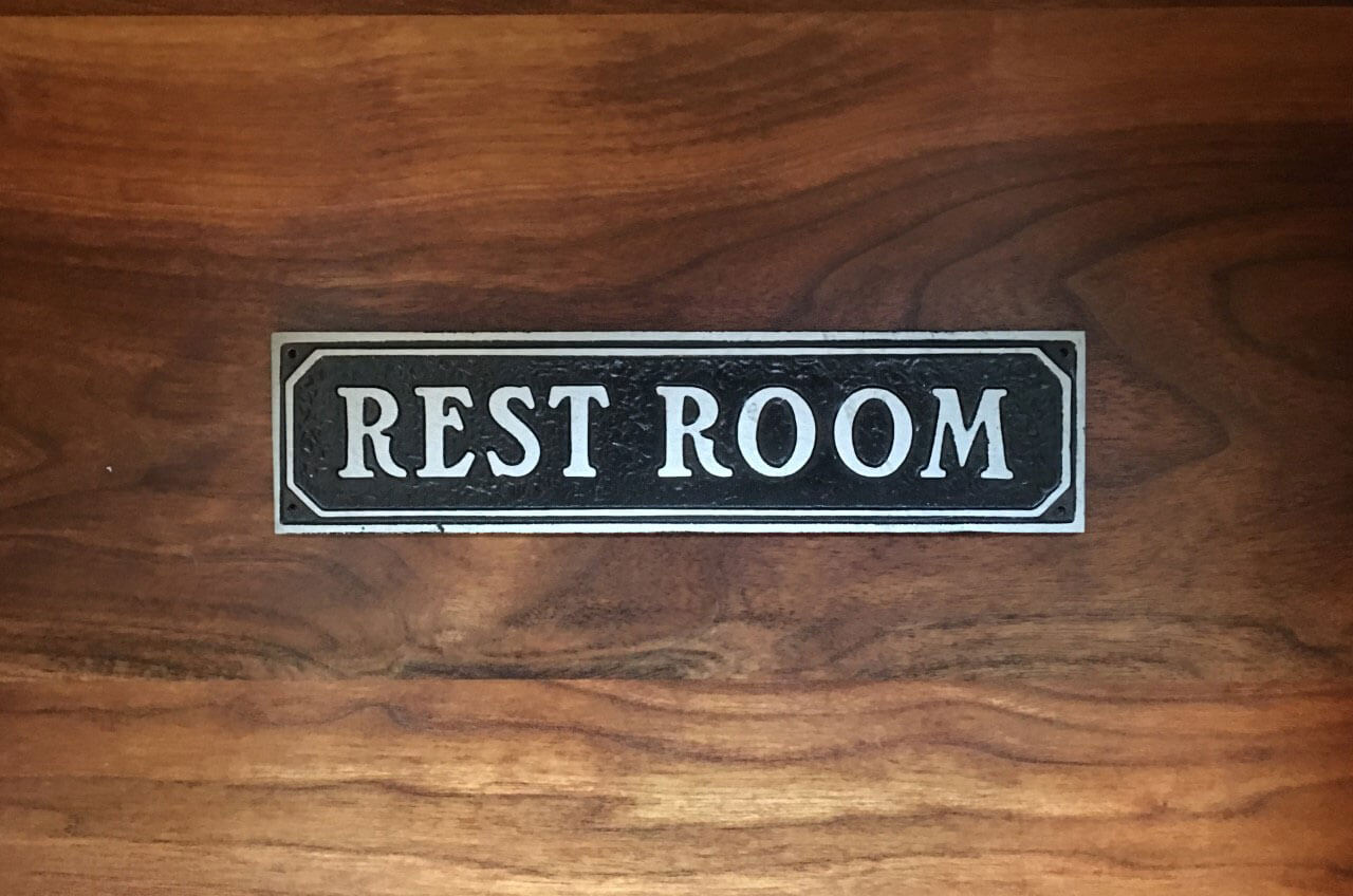 Restroom Door Sign
