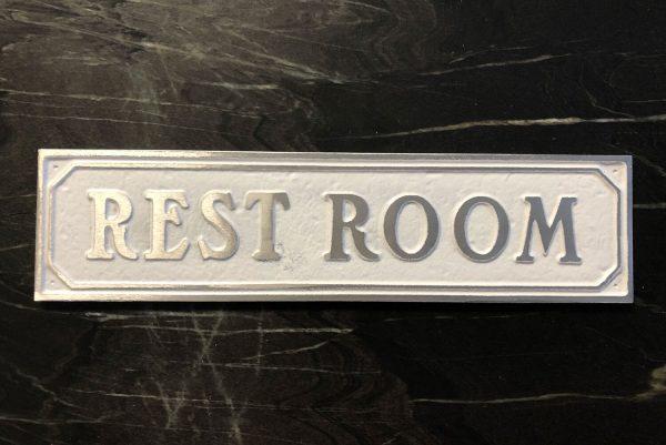 Restroom Door Sign