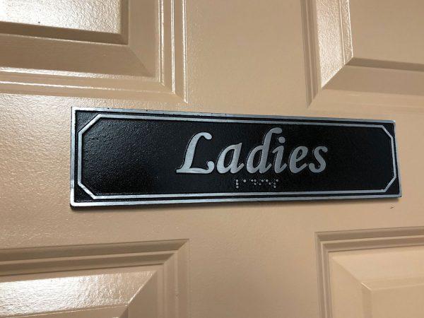 Ladies Door Sign with Braille