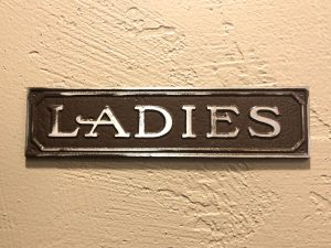 Antiqued Ladies Door Sign