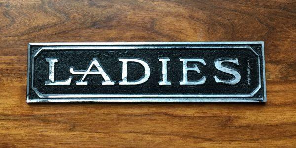 Antiqued Ladies Door Sign