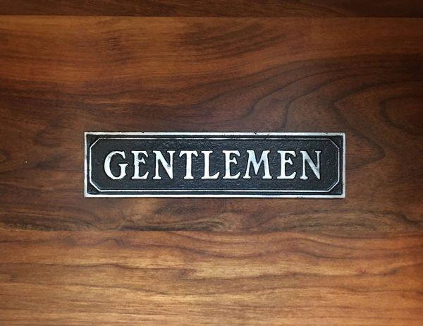 Antiqued Gentlemen Door Sign