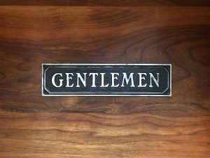 Antiqued Gentlemen Door Sign