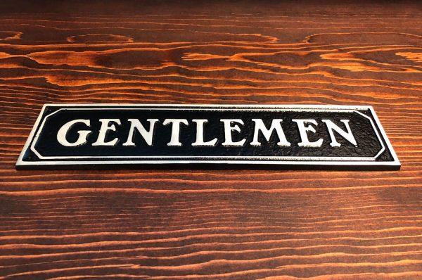 Gentlemen Door Sign