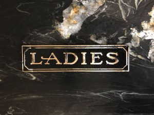 Brass Antiqued Ladies Door Sign