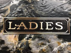 Brass Ladies Door Sign