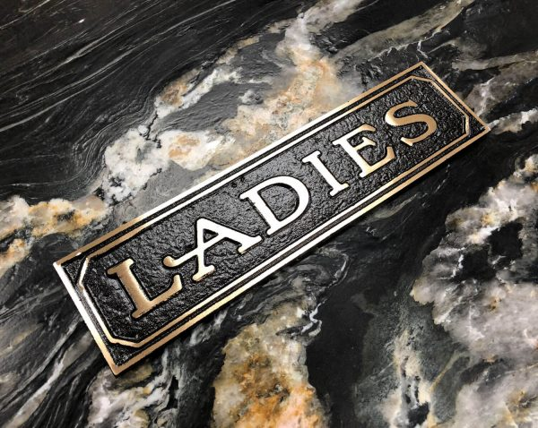 Brass Ladies Door Sign
