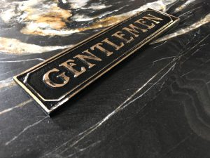 Brass Antiqued Gentlemen Door Sign