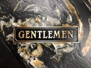 Brass Gentlemen Door Sign