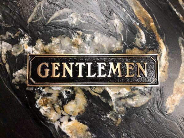 Brass Gentlemen Door Sign