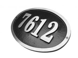 Custom Large Oval,1 Line Address Plaque