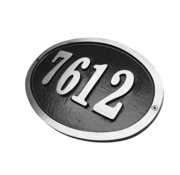 Custom Large Oval,1 Line Address Plaque
