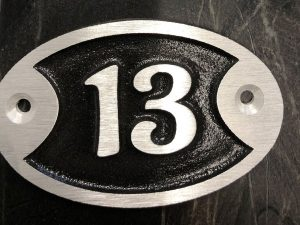 Door Number Sign