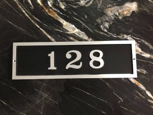 Horizontal Five Number Rectangular Address Plaque