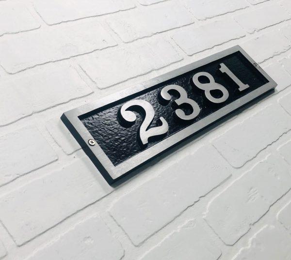 Horizontal Donn Address Plaque