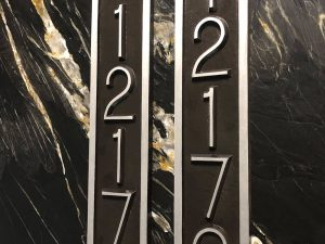 Vertical Five Number Rectangular Address Plaque