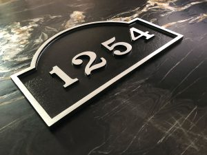 Large Palmer 1 Line Address Plaque