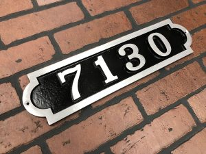 Horizontal Bold Palmer Address Plaque