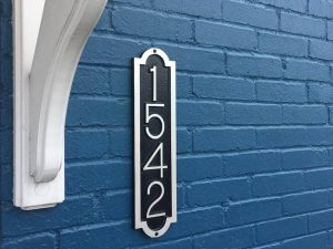 Palmer Vertical Address Plaque