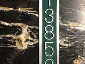 Palmer Five Number Address Plaque