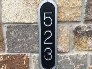 Vertical Arch Address Plaque