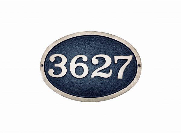 Large Brass Oval, 1 Line Address Plaque