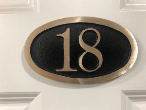 Brass Door and Wall Number Plaque