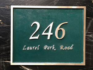 Large Rectangular Custom Address Plaque