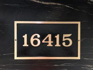Medium Rectangular Custom Address Plaque