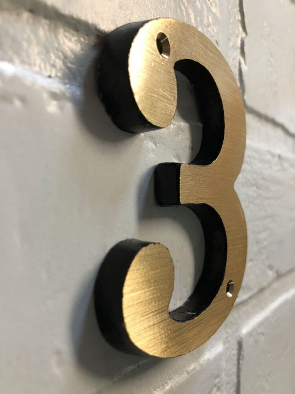 Bold Brass House Address and Mailbox Numbers