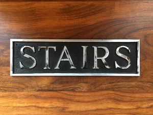 Antiqued Stairs Door or Wall Sign