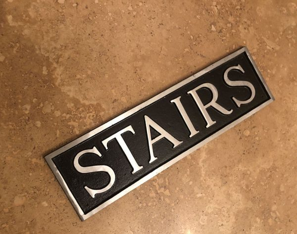 Stairs Door or Wall Sign