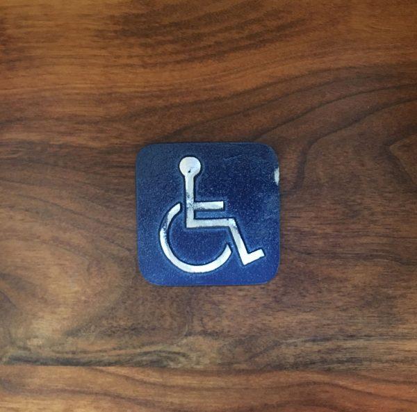 Antique Handicap Door Sign