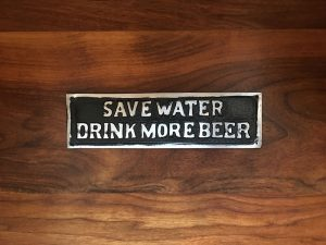 Novelty Antiqued Beer Wall Sign